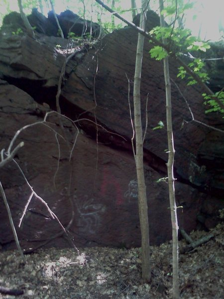 Rock Climbing Photo: This wall is deep in the hole and is about 25' I'd...