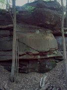 Rock Climbing Photo: Full wall shot. As you can see the top is pretty p...