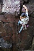 Rock Climbing Photo: Andy Hansen moves through the lower handcrack. Sum...