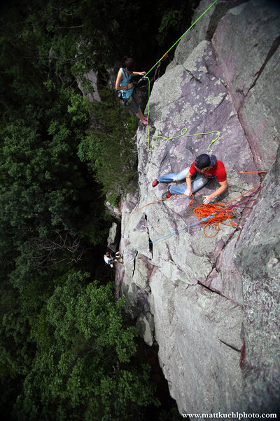The Lost Face. Climbers and Photographers working it during my first session teaching a climbing photography clinic. Summer 2011<br> <br> Photo Matt Kuehl