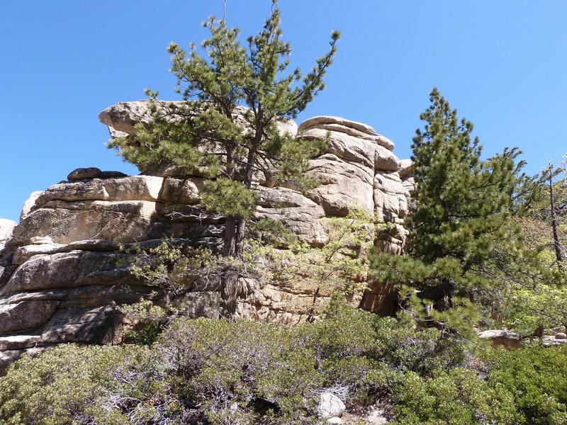 Rock Climbing Photo: Hungover Wall - Left Side, Keller Peak