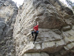 Rock Climbing Photo: the footholds are select-a-sloper of your choice.