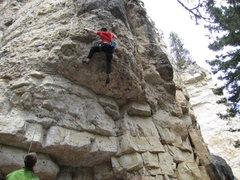 Rock Climbing Photo: almost thru it