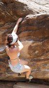"Rock Climbing Photo: Hillary crushing ""Short Stuff"" for the t..."
