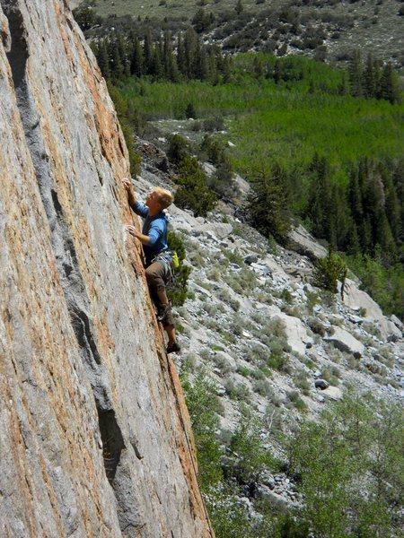 Rock Climbing Photo: Tommy grabbing a handful.
