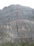 Rock Climbing Photo: To the best of my approximation, this is the line ...