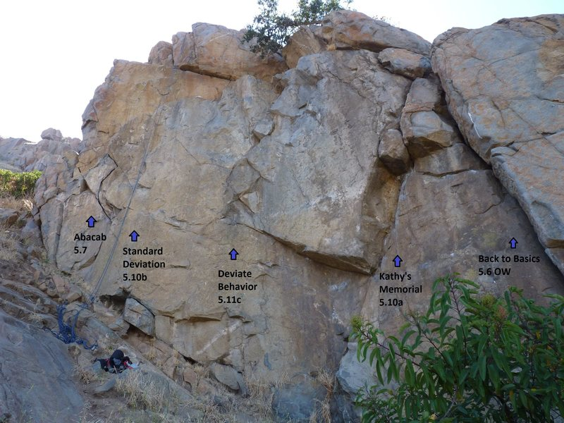 Rock Climbing Photo: The left half of the Standard Deviation Wall.