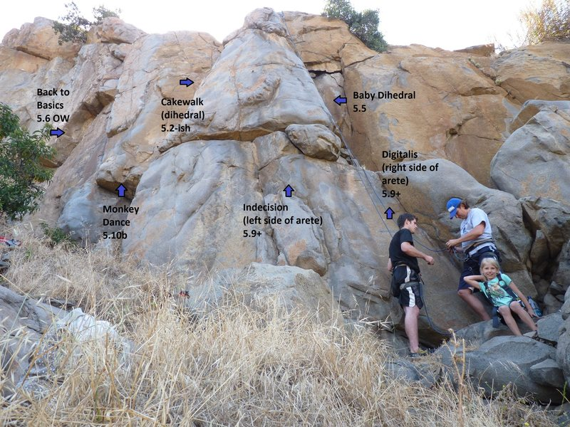 Rock Climbing Photo: This is the right half of the Standard Deviation W...