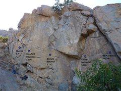 Rock Climbing Photo: Several climbs near Kathy's Memorial.