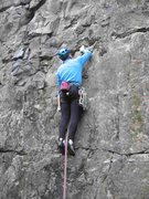 Rock Climbing Photo: Starting Padme on a cold day (photo Phil Ashton)