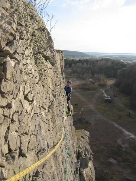 Rock Climbing Photo: Traditional traversing on Truffle at Trowbarrow (p...