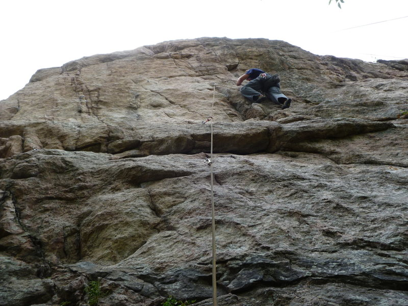 Rock Climbing Photo: Fully engaged in the crack.