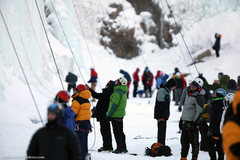 Rock Climbing Photo: Ice Fest 2011. The Pit is the place to be... Photo...