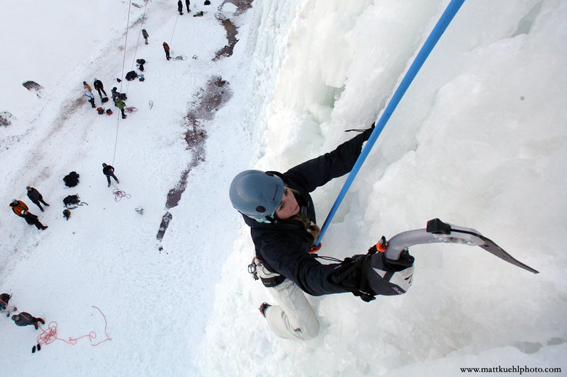 Lindsey Gram. Ice Fest 2011. Photo Matt Kuehl