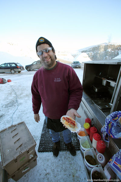 Lunch! Ice Fest 2011. Photo Matt Kuehl