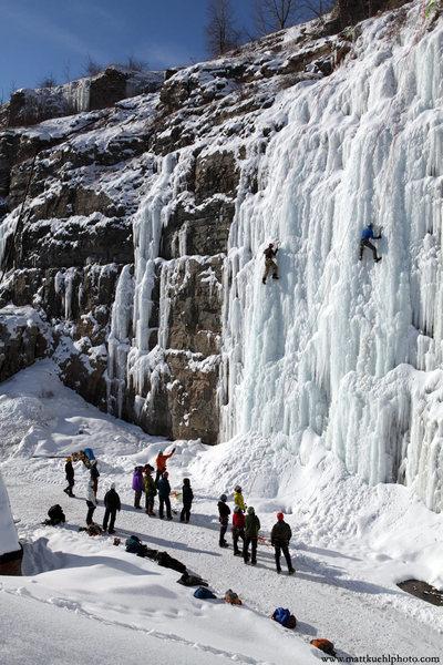Rock Climbing Photo: Ice Fest 2011. Photo Matt Kuehl