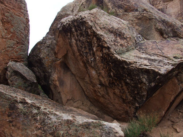 Microburst Rock's east face.