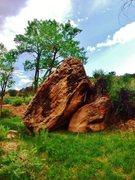 Rock Climbing Photo: Bankfull Boulder and its northeast face.