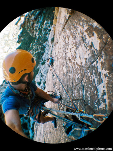Right when all the fun begins! Top of P2. Fall 2010<br> <br> Photo Matt Kuehl