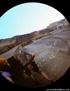 Rock Climbing Photo: Avoid ending up here. Rap from lowest possible anc...