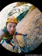Rock Climbing Photo: Mid Route somewhere. Fall 2010  Photo Matt Kuehl