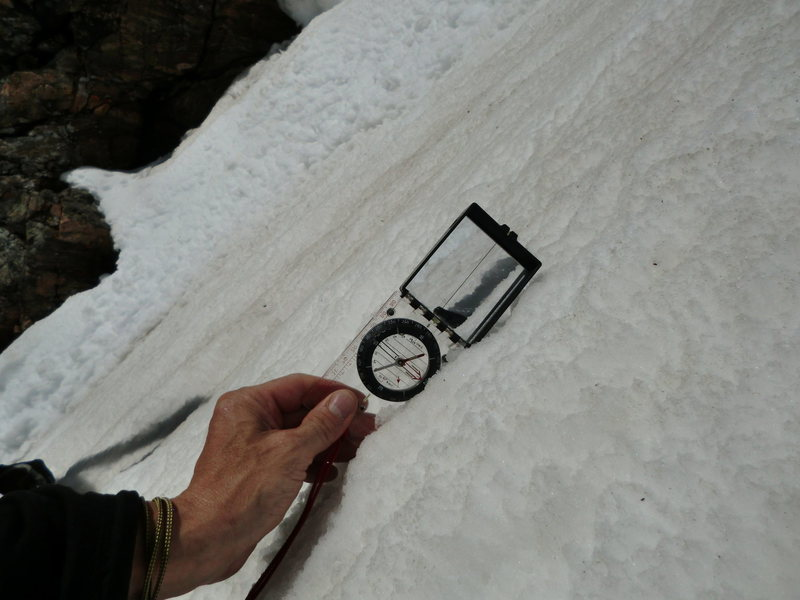 Rock Climbing Photo: Inclinometer shows about 50 degrees.
