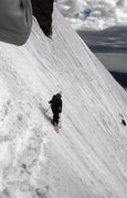 Rock Climbing Photo: Dropping into couloir, hard turns, snow conditions...