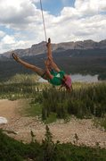 Rock Climbing Photo: Myself enjoying a little king swing for photos.  F...