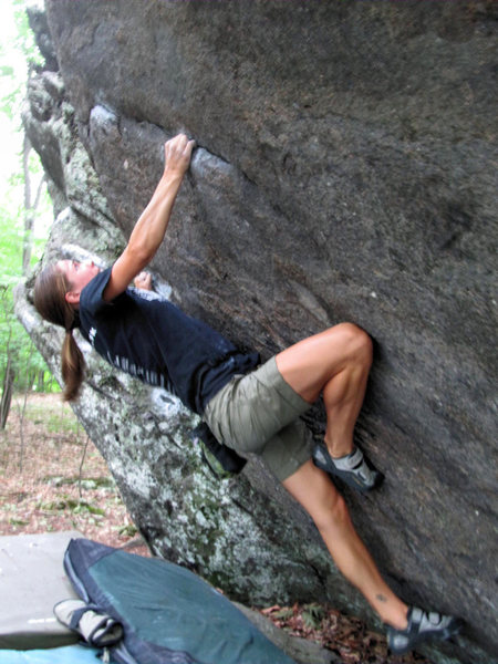 "Rock Climbing Photo: Katie making quick work of ""Ranger Rick (Sit)..."