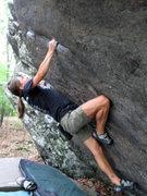 """Rock Climbing Photo: Katie making quick work of """"Ranger Rick (Sit)..."""