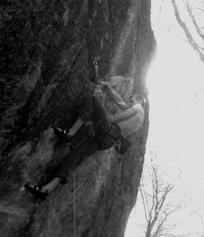 Rock Climbing Photo: two shaved heads