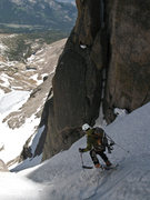 Rock Climbing Photo: Skiing on belay.