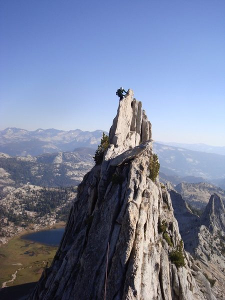 Rock Climbing Photo: Me on Mathes Crest summer 2010