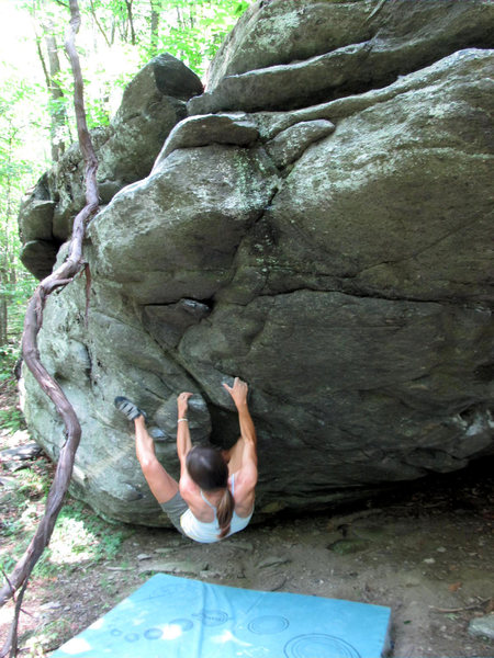 "Rock Climbing Photo: Katie Everson at the start to ""Copperhead&quo..."