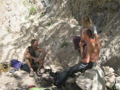 Rock Climbing Photo: Ryan, Samuel and Brian enjoying a day in Rifle Par...