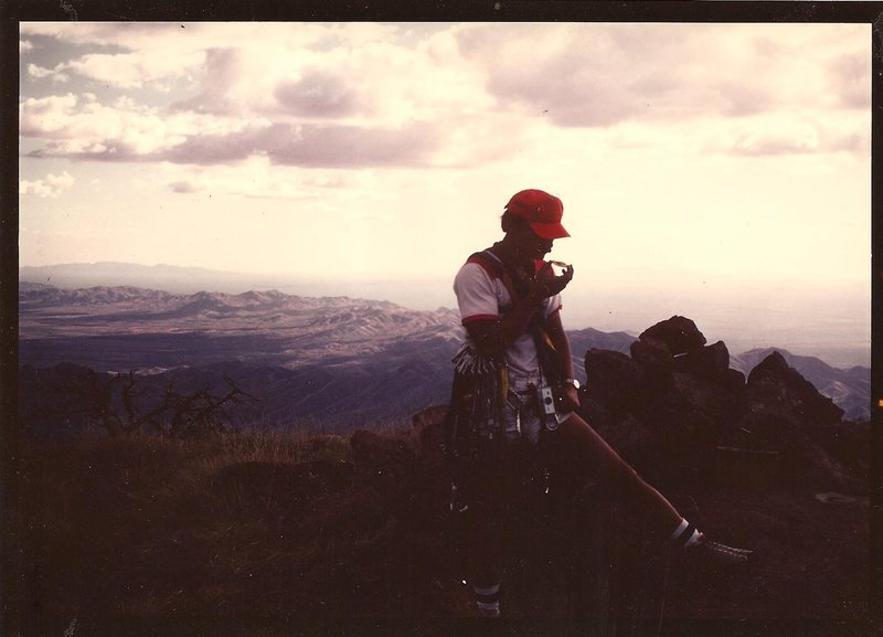 JB, summit of Baboquivari, Oct 1980.