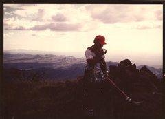 Rock Climbing Photo: JB, summit of Baboquivari, Oct 1980.