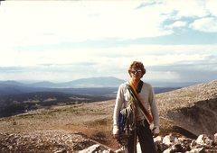Rock Climbing Photo: Paul Cornia looking cool, summit of Old Main, Snow...