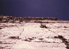 Rock Climbing Photo: Paul Cornia, 2nd pitch Overhang Direct, Diamond, S...