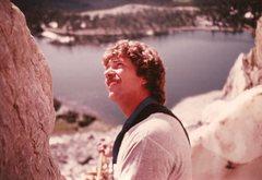 Rock Climbing Photo: Pablo belaying Frank in Snowy Range, July 1982.