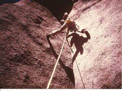 Rock Climbing Photo: JB, Vedauwoo Wyoming, Aug 1984.