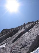 Rappelling the North face of Longs Peak.