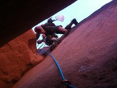 Rock Climbing Photo: From the inside looking out