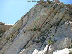 Rock Climbing Photo: Topo of area.