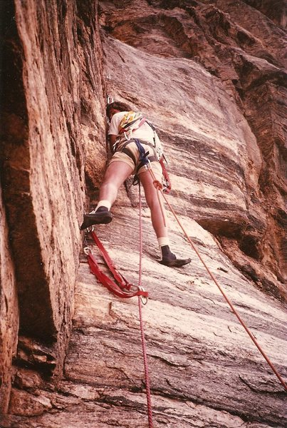 Pablo...pitch 5 Colorado Crush, Sabino Canyon, March 1983<br> <br> Dig the old high-top shoes.
