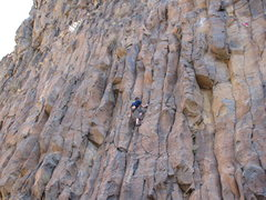 Rock Climbing Photo: Climber on Lethe. photo by Jerry Inman
