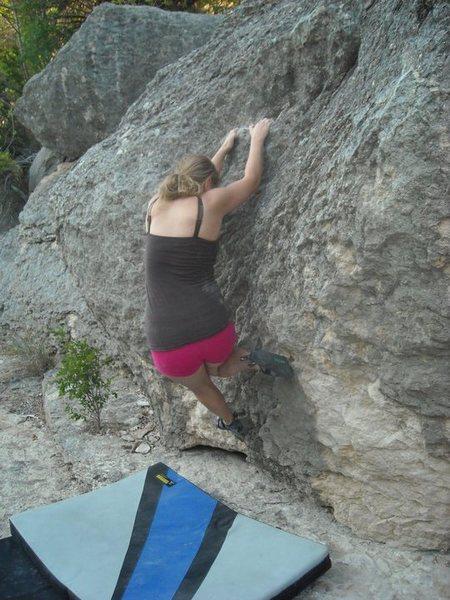 "Rock Climbing Photo: Samantha on ""Rape Alley""."
