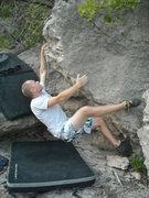 "Rock Climbing Photo: Zach on ""I Sharted"""