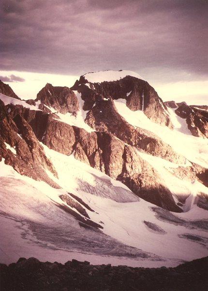 Gannett Peak from Dinwoody Pass, Aug 1984.