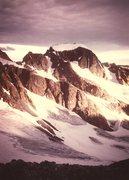 Rock Climbing Photo: Gannett Peak from Dinwoody Pass, Aug 1984.